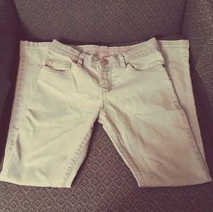 Girls Super Skinny Khaki Jeans